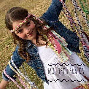 Other - MollyBobBraids Handmade Braided Headband 💜💚